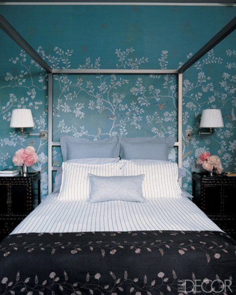 Color of the month cerulean blue for Bedroom ideas elle decor