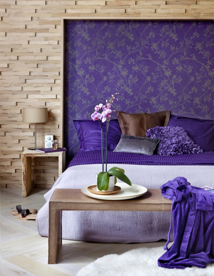 Flora Byzantium Bedroom Feature Wall Idea - R1194