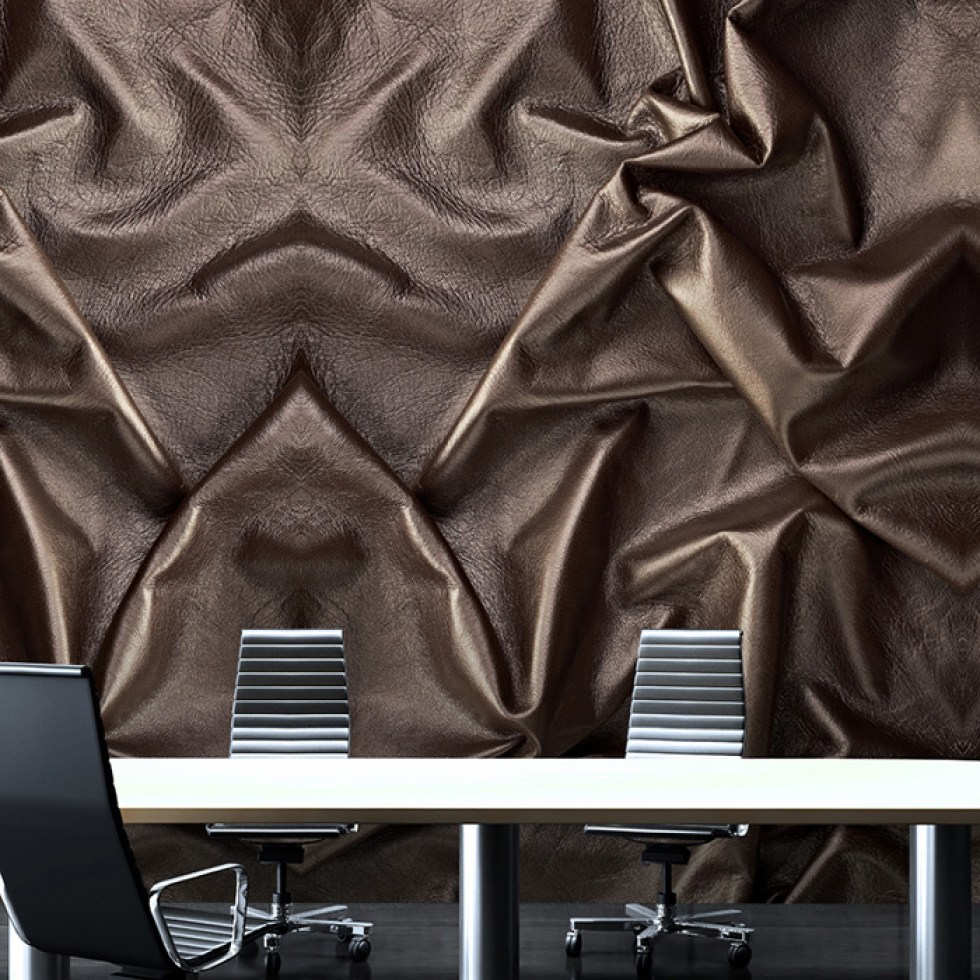 Faux Leather Wallpaper Mural M8920