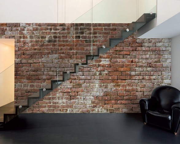 Historic Brick Faux Wallpaper Mural M8994