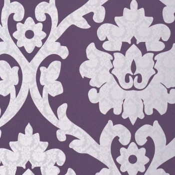 Plush Byzantium Purple Damask Wallpaper R1042