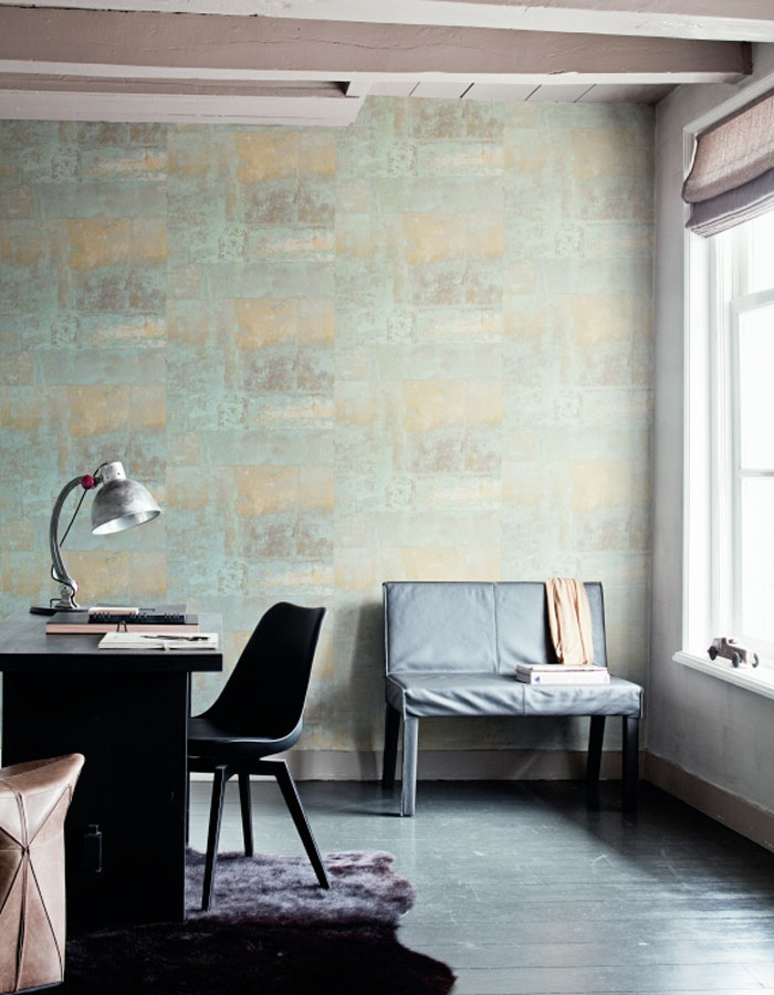 Henge Cool Grey Home Office Wallpaper R1428