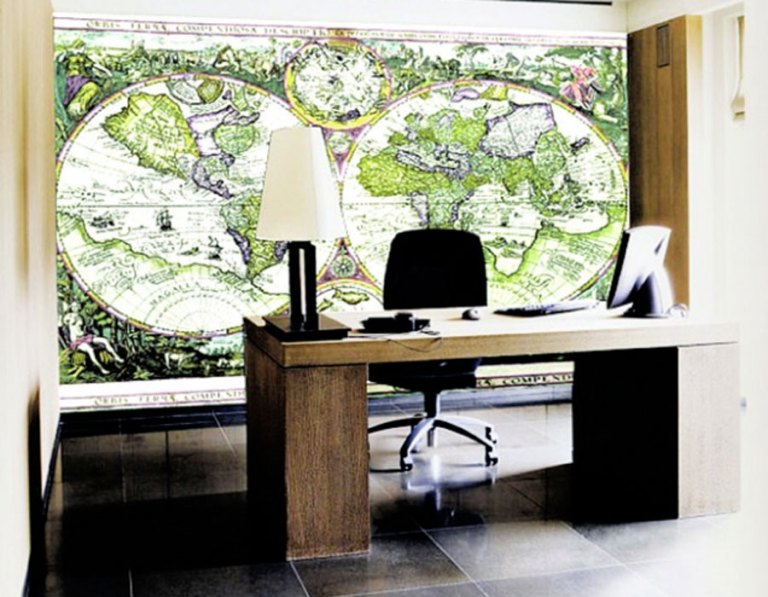 World Map Office Wall Mural M8398