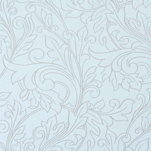 Glory Baby Blue Damask Wallpaper R1453