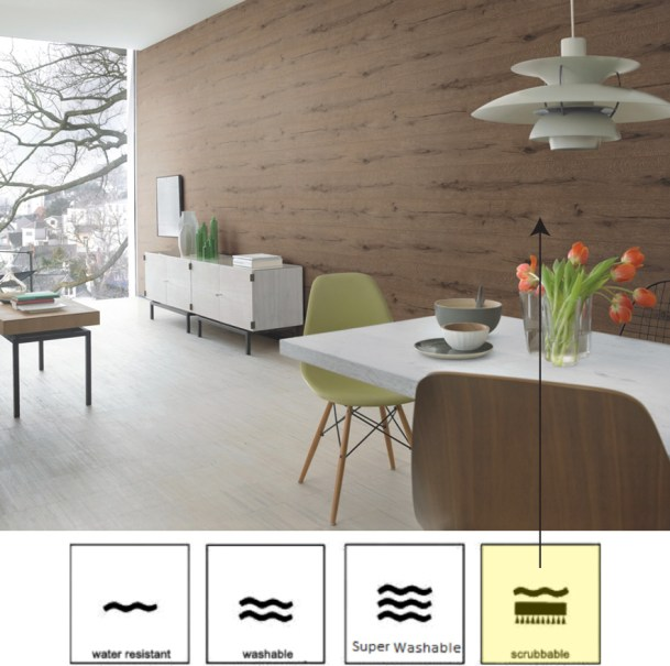 Bistre Lumber Faux Finish Wallpaper by Walls Republic R2347