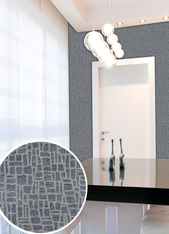 Grey Spotlight Glass Bead Wallpaper by Walls Republic S43752
