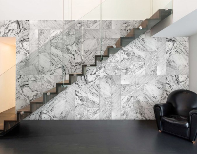 Marble Cubes Faux Finish Wall Mural M8977