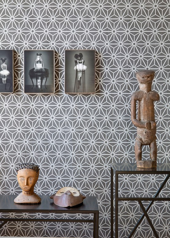 Grey Geometric Wallpaper R2245