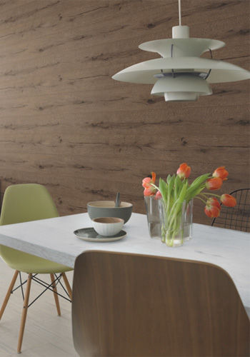 Bistre Lumber Faux Wood Wallpaper R2347