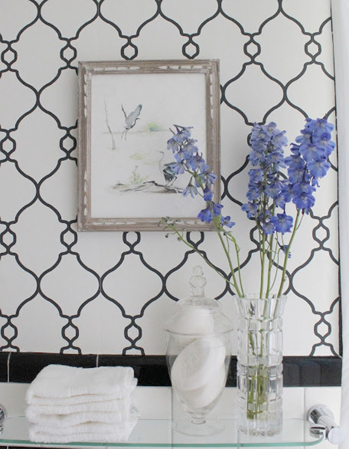 Walls Republic | Black & White Lattice Wallpaper R2548