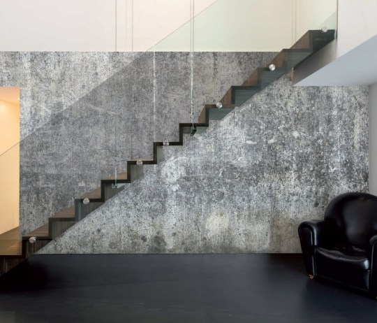 Faux Concrete Mural for a Feature Wall