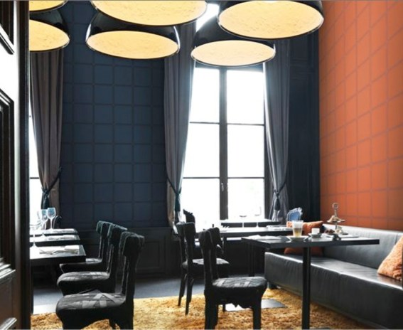 Faux Leather Wallpaper for a Relaxing Lounge and Luxury Interior Design