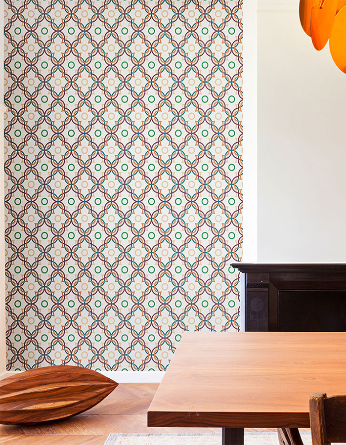 Byzantium ripple geometric wallpaper by Walls Republic
