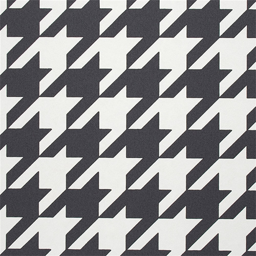 Be bold with black and white houndstooth wallpaper