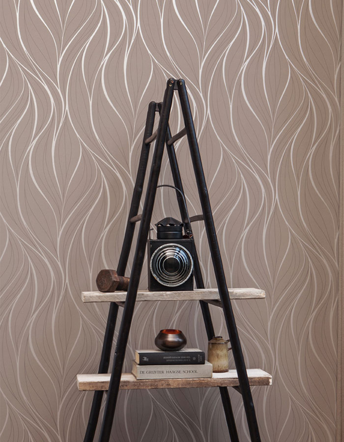 Modern abstracted flowing lines Tousled wallpaper R2930 | Walls Republic