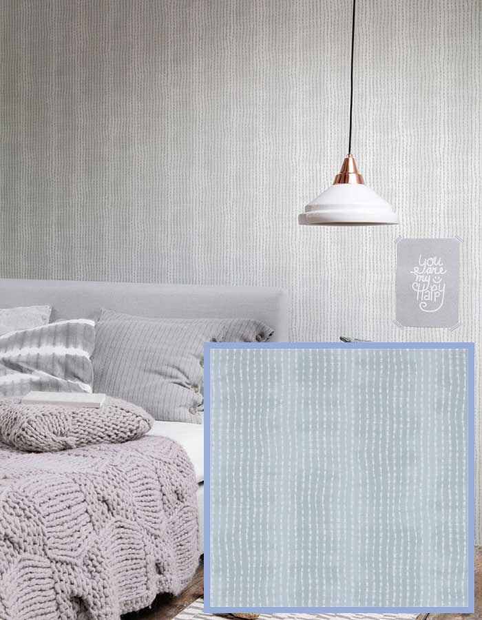 Super chic and unique tie-dye pattern in this lovely blue | pantone rose quartz and serenity walls republic wallpaper