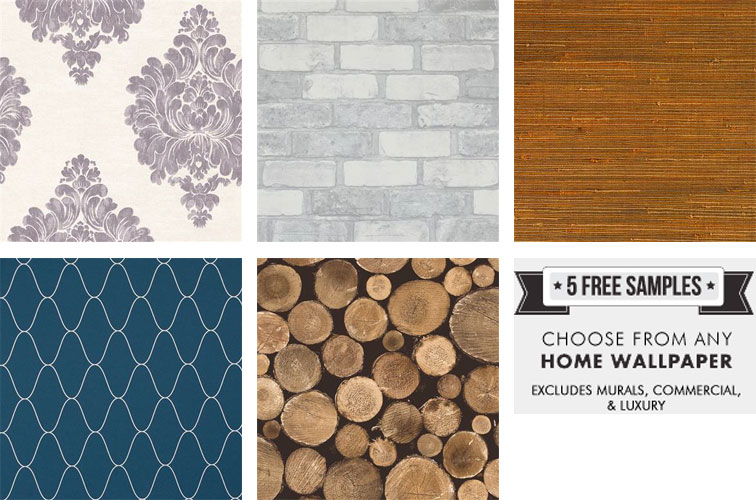 Order up to 5 free samples of your favorite wallpaper by Walls Republic
