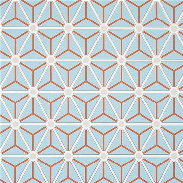 Powder Blue Hexagonal R2251