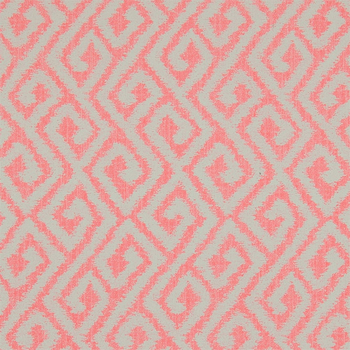 Swirling aztec geometric patterned wallpaper with textured edges