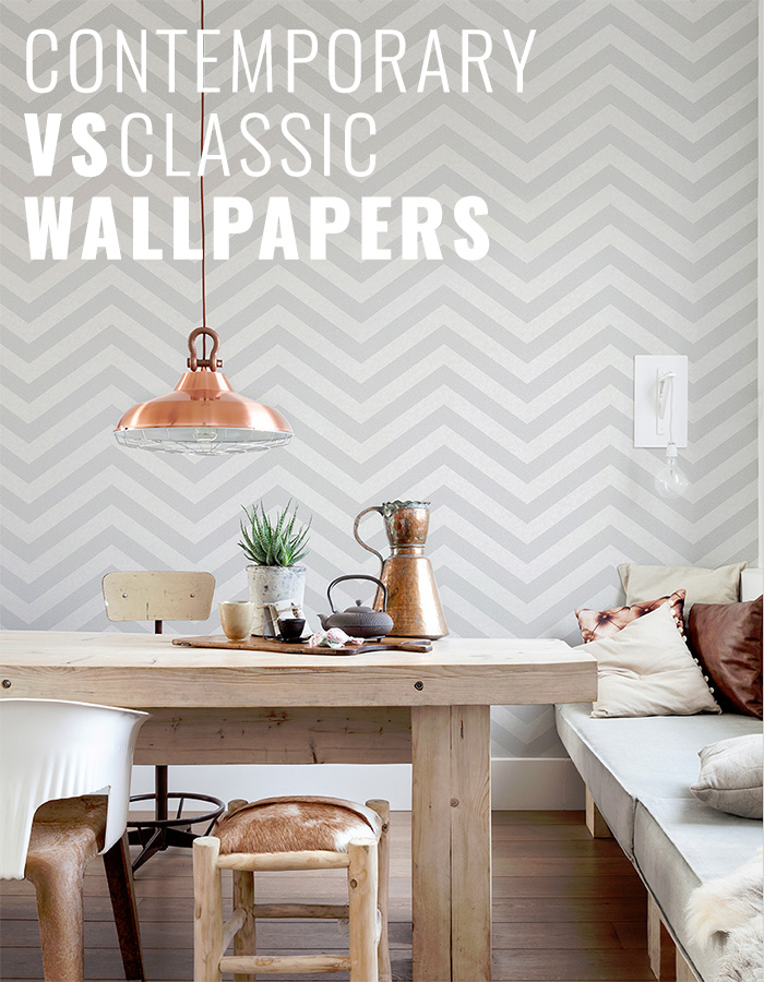 Contemporary vs Classic Wallpapers