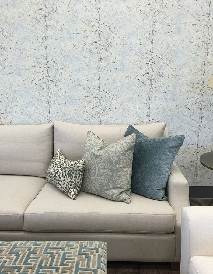 The Pastel Blue Peach Tree Wallpaper R2797