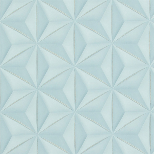 Powder Blue Delusional Geometries Wallpaper R2922