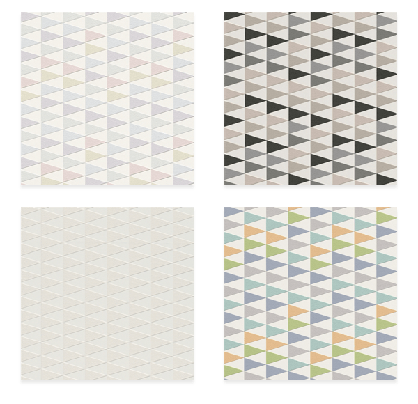 (Clockwise starting at the top left) Modern Geometric Pink and Purple Trigonal Wallpaper R4393 / http://www.wallsrepublic.com/modern-geometric-pink-trigonal-wallpaper-p/r4393-parent.htm And Modern Geometric Taupe Trigonal Wallpaper R4392 / http://www.wallsrepublic.com/modern-geometric-taupe-trigonal-wallpaper-p/r4392-parent.htm And Modern Geometric Blue and Orange Trigonal Wallpaper R4390 / http://www.wallsrepublic.com/modern-geometric-blue-orange-trigonal-wallpaper-p/r4390-parent.htm And Modern Geometric White Trigonal Wallpaper R4391 / http://www.wallsrepublic.com/modern-geometric-white-trigonal-wallpaper-p/r4391-parent.htm