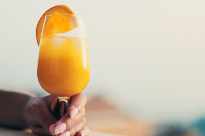 jus de fruit orange verre