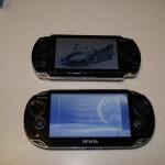 PSP vs PS Vita vue de dessus allumée