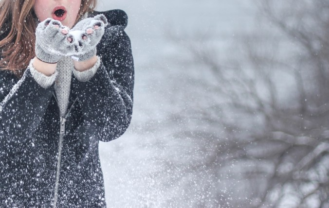 femme neige