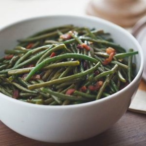 Green Beans with Sweet-and-Sour Bacon Dressing