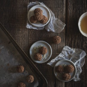 Raw Chamomile + Lavender + Bee Pollen Chocolate Truffles