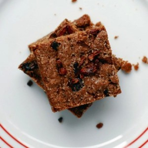 Dried Cherry and Cacao Nib Brownies