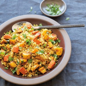 Moroccan-Spiced Roasted Vegetables and Quinoa