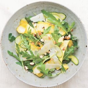 Shaved Zucchini Salad with Almonds and Asiago