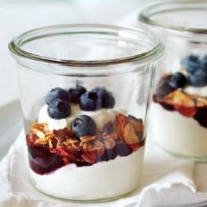 Yogurt Parfaits with Berry Jam & Granola