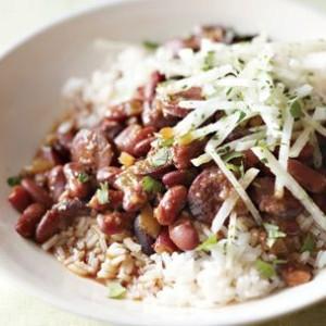 Spicy Red Bean & Chorizo Stew