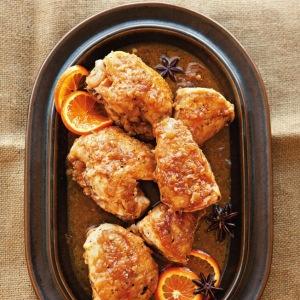 Braised Chicken with Tangerine & Star Anise