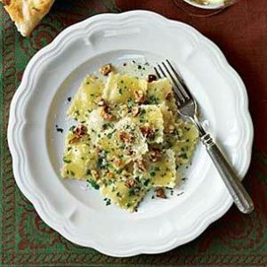 Pear & Pecorino Ravioli with Walnuts
