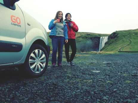 Using the timer on cameras is also a way to make sure you make it into some pictures like this one taken on a road trip in Iceland.