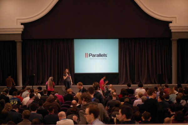 Photo of WordCamp London 2015 stage by rarst