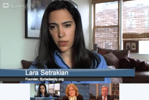 Syria Deeply's Google Hangouts provide an opportunity for in-depth chats with reporters, experts, and policy makers.