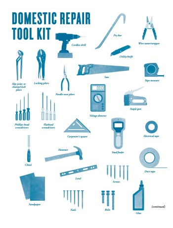 domestic repair toolkit