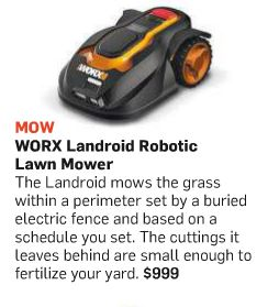 WORX Landroid article in Popular Science