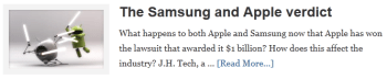 The Samsung and Apple verdict