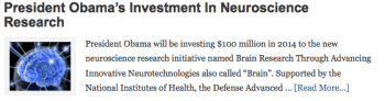 President Obama's Investment In Neuroscience Research
