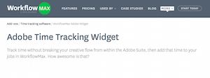 Adobe Time Tracking Widget