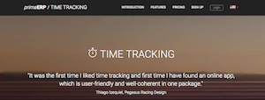 PrimaERP Time Tracking