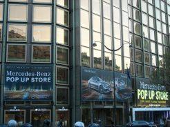 Mercedes Ouverture D Un Pop Up Store Avenue George V 224