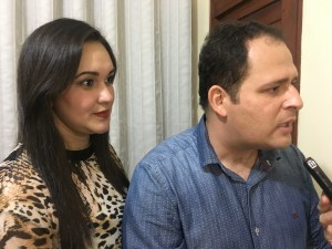Eduardo Brito e sua esposa Isaurina Meireles.